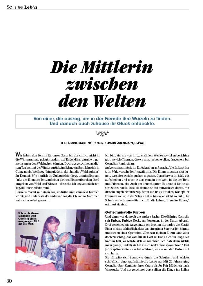 Mittlerin zwischen den Welten - Cornelia Miedler, Kitzbühel